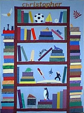 BookShelf Applique Pattern Bookshelf