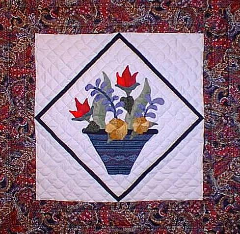 Flower-Pots-Applique-quilt-Kim-McLean- | eBay